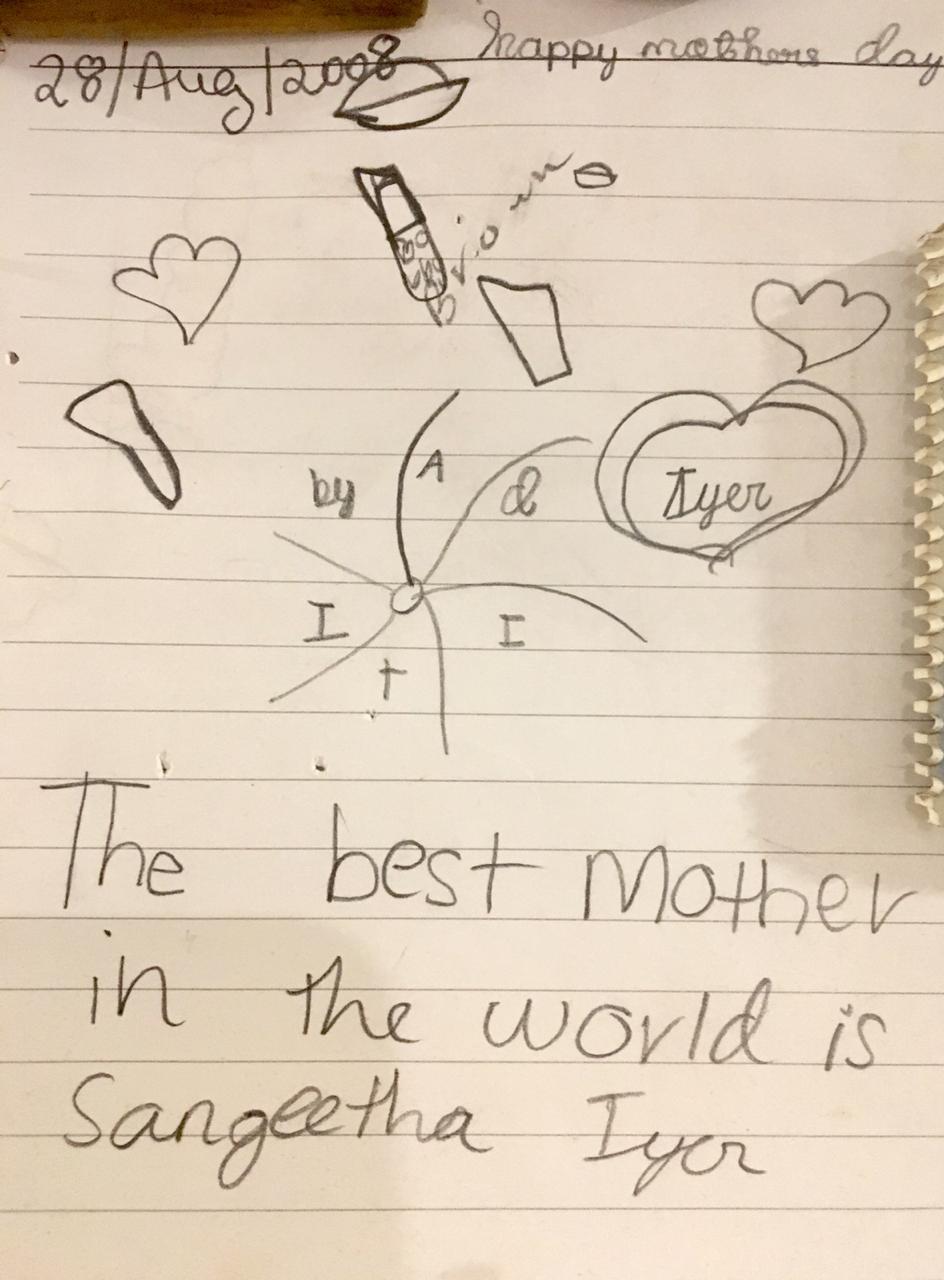 My Mom - the Greatest! says Aditi Iyer.