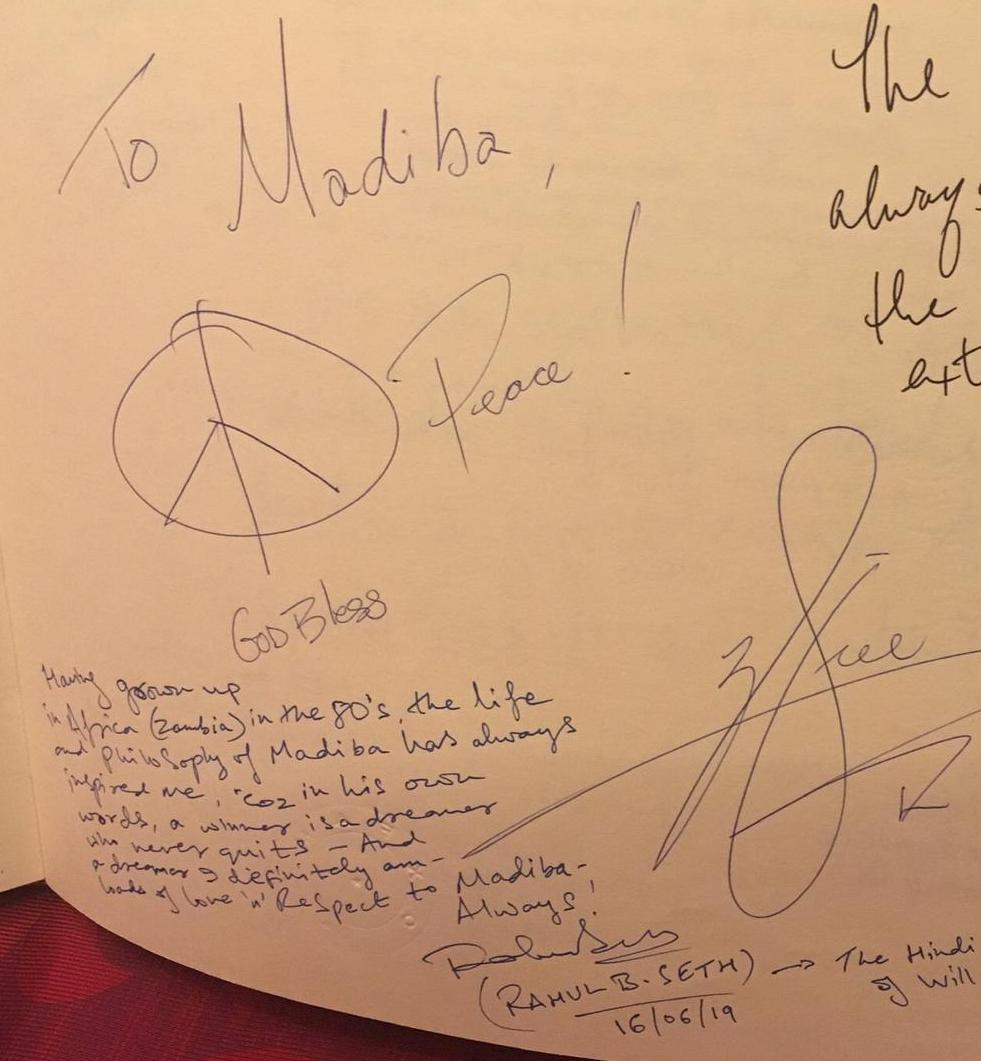 Rahul B Seth Pays a Historic Tribute to Nelson Mandela