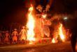Salt Lake Ravana Effigy Burnt on Dussehra